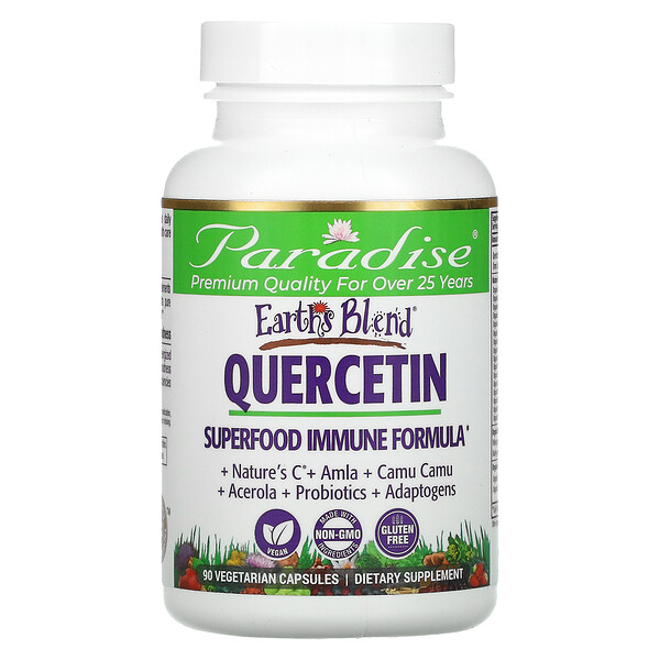 Paradise Herbs, Earth's Blend, Quercetin, Superfood Immune Formula, 90 Vegetarian Capsules