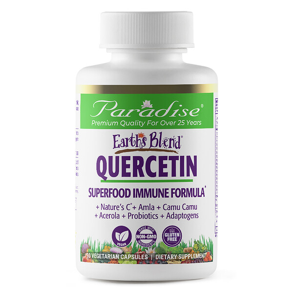 Earth's Blend, Quercetin, Superfood Immune Formula, 90 Vegetarian Capsules