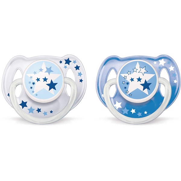 Philips Avent, Orthodontic Glow in the Dark Nighttime Pacifier, 6-18 Months, 2 Pack (Discontinued Item)