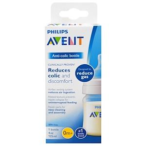 Филипс Авент, Anti-Colic Bottle, 0 + Months, 1 Bottle, 4 oz (125 ml) отзывы
