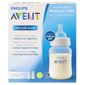 Филипс Авент, Anti-Colic Bottle, 1 + Months, 2 Bottles, 9 oz (260 ml) Each отзывы