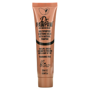 Dr. PAWPAW, Multipurpose Soothing Balm with Natural PawPaw, Rich Mocha, 0.84 fl oz (25 ml)