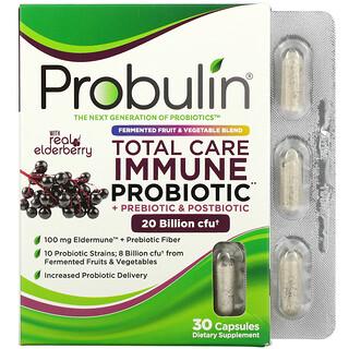 Probulin, Total Care Immune Probiotic + Prebiotic & Postbiotic with Real Elderberry, 20 Billion CFU, 30 Capsules