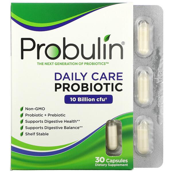 Daily Care, Probiotic, 10 Billion CFU, 30 Capsules