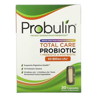 Probulin, Total Care Probiotic, 20 Billion CFU, 30 Capsules