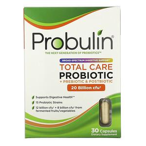 Probulin, Total Care Probiotic, 20 Billion CFU, 30 Capsules'
