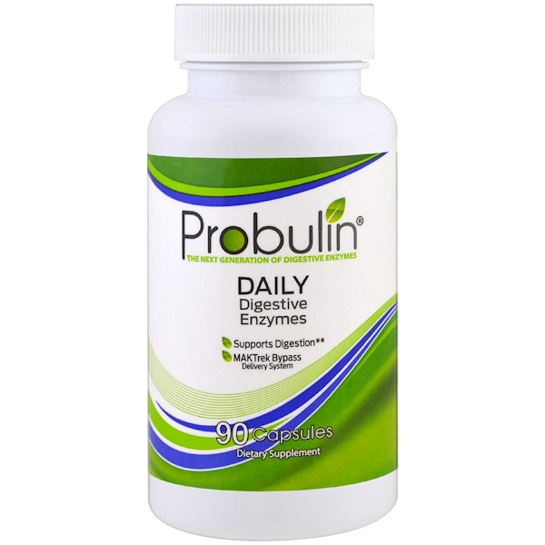 Probulin, Daily Digestive Enzymes, 90 Capsules (Discontinued Item)