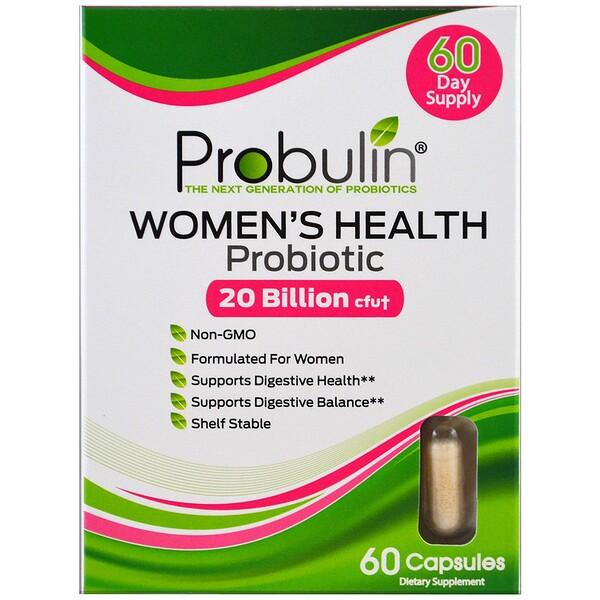Women's Health, Probiotic, 20 Billion CFU, 60 Capsules