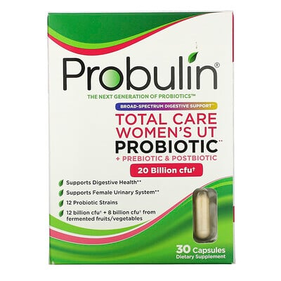 Купить Probulin Total Care Women's UT Probiotic, 20 Billion CFU, 30 Capsules