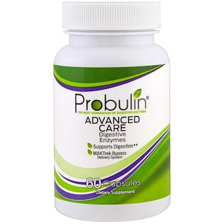 Probulin, Advanced Care, Digestive Enzymes , 60 Capsules