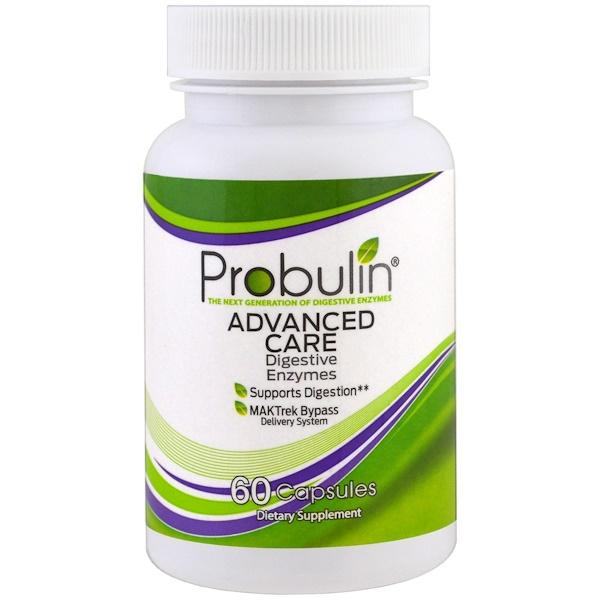 Probulin, Профессиональный уход, пищеварительные ферменты, 60 капсул (Discontinued Item)