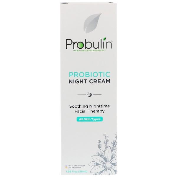 Probulin, Probiotic Night Cream, 1.69 fl oz (50 ml)