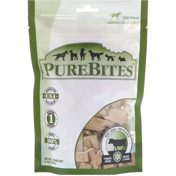 Pure Bites, Freeze Dried, Beef Liver, Dog Treat, 4.2 oz (120 g)