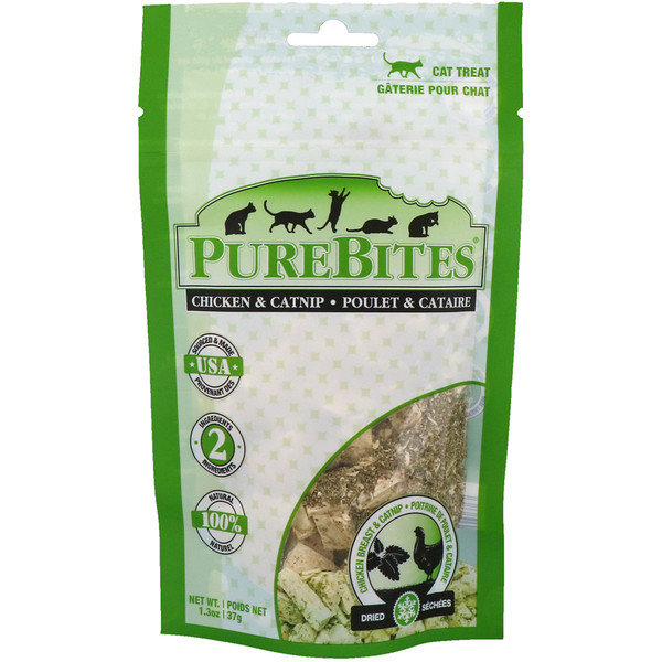 Pure Bites, Freeze Dried, Cat Treats, Chicken Breast & Catnip, 1.3 oz (37 g) (Discontinued Item)