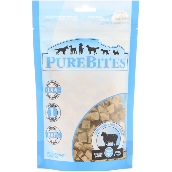 Freeze Dried, Dog Treats, Lamb Liver , 3.35 oz (95 g)