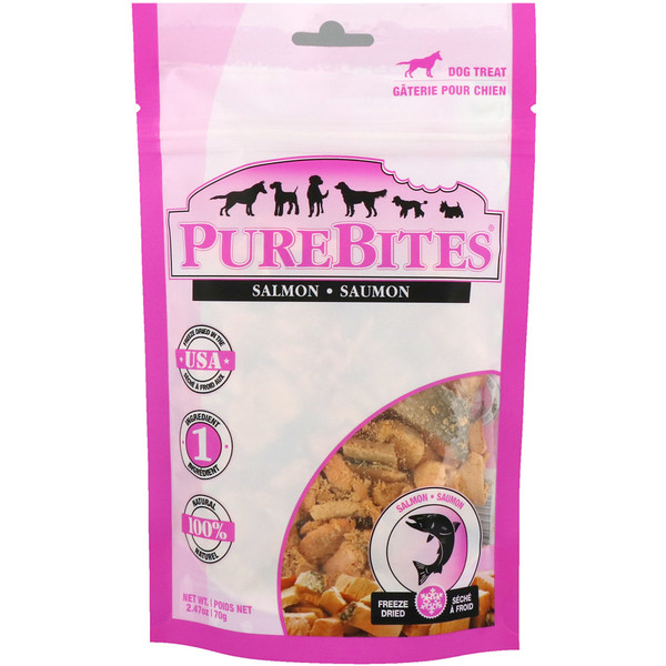 Pure Bites, Freeze Dried, Dog Treats, Salmon, 2.47 oz (70 g) (Discontinued Item)