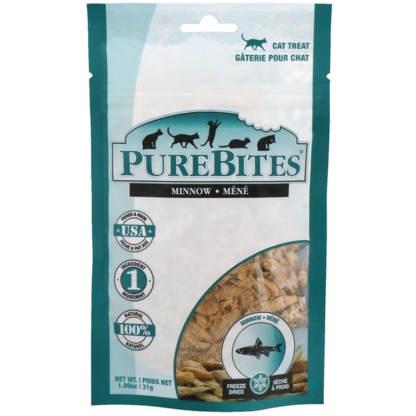 Pure Bites, Freeze Dried, Cat Treats, Minnow, 1.09 oz (31 g)