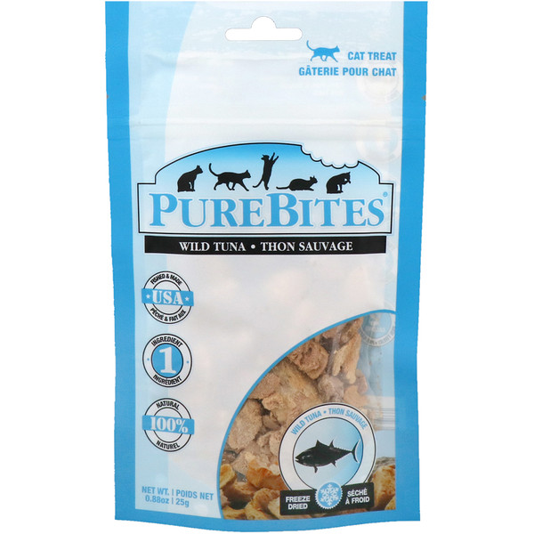 Pure Bites, Freeze Dried, Cat Treats, Wild Tuna, 0、88 oz (25 g)