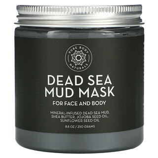 Pure Body Naturals, قناع طمي البحر الميت، 8.8 أونصة سائلة (250 جم)