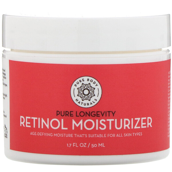 Pure Body Naturals, Retinol Moisturizer, Age & Wrinkle Defying Cream, 1.7 fl oz (50 ml)