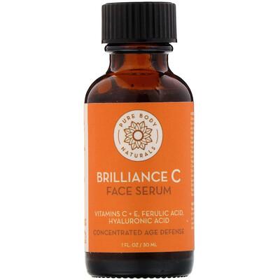 Купить Pure Body Naturals Сыворотка для кожи лица Brilliance C, 1 ж. унц. (30 мл)
