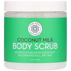 Pure Body Naturals, 椰奶磨砂膏,12 盎司(340 克)