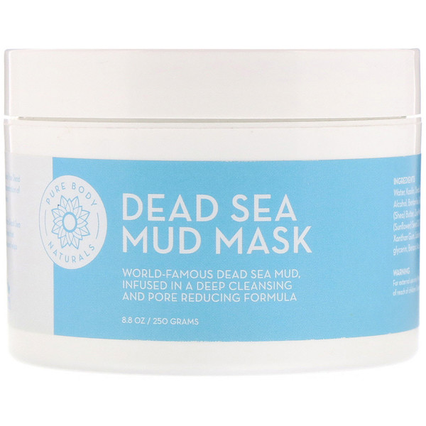 Pure Body Naturals, Máscara de barro del Mar Muerto, 250 g (8.8 oz)