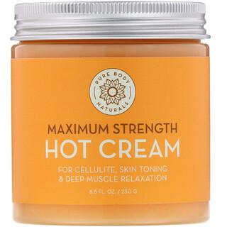 Pure Body Naturals, كريم دافئ بقوة فائقة، 8.8 أونصة سائلة (250 جم)