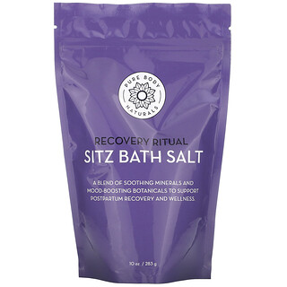 Pure Body Naturals, Recovery Ritual، ملح الاستحمام لحمام المقعدة، 10 أونصة (283 جم)