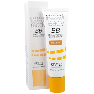 Prestige Cosmetics, Flawless & Ready BB Beauty Balm, SPF 15, Medium, 1.0 fl oz (30 ml)