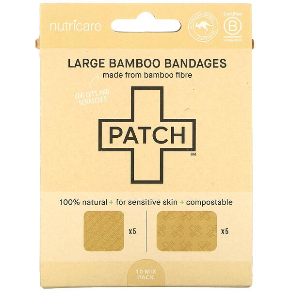 Large Bamboo Bandages, 10 Mix Pack