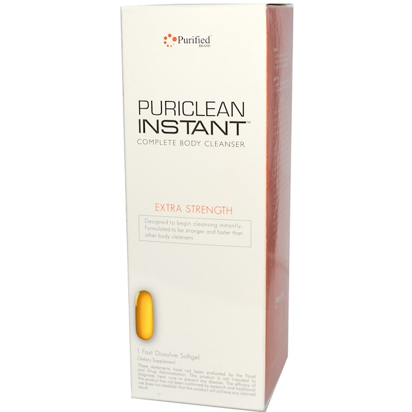 PuriClean, Instant Complete Body Cleanser, Extra Strength, 1 Fast Dissolve Softgel (Discontinued Item)