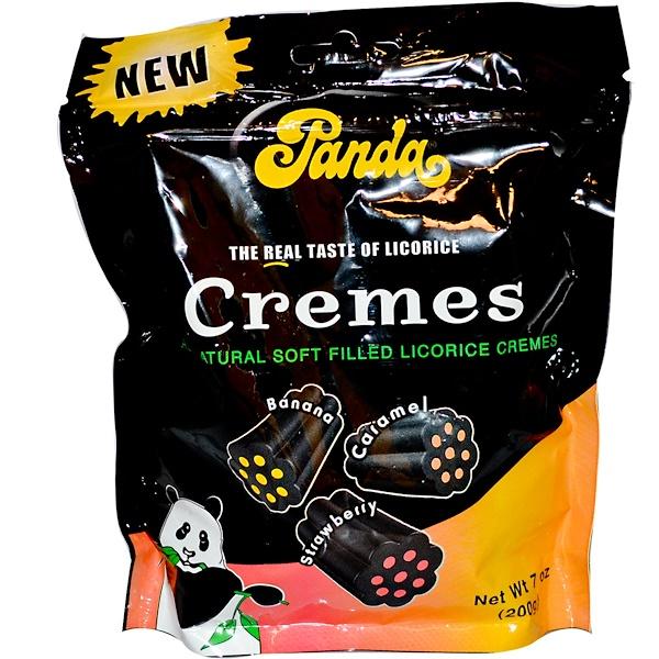 Panda Licorice, Cremes, Banana, Caramel, Strawberry, 7 oz (200 g) (Discontinued Item)