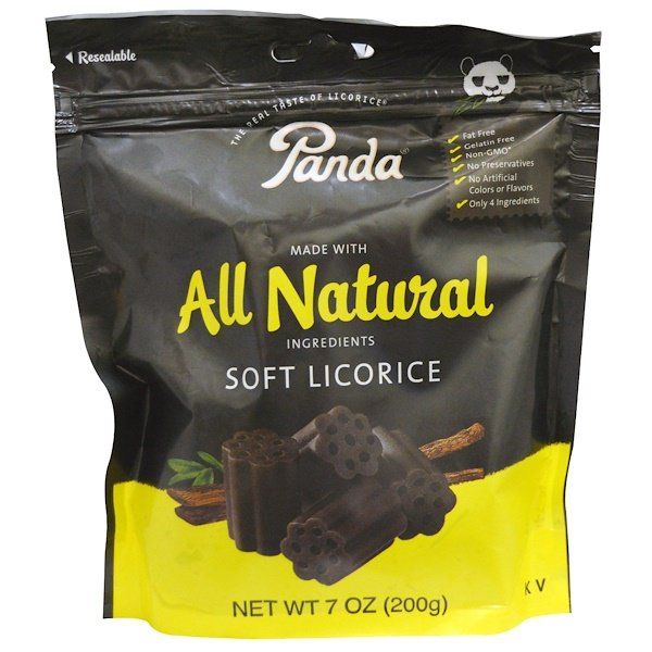 Panda Licorice, Soft Licorice, 7 oz (200 g)