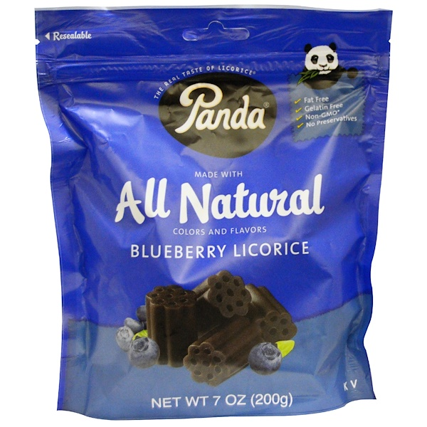 Panda Licorice, All Natural Blueberry Licorice, 7 oz (200 g) (Discontinued Item)