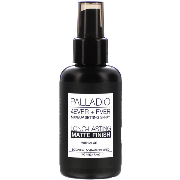 Palladio, 4Ever + Ever Makeup Setting Spray, Long-Lasting Matte Finish, 3.4 fl oz (100 ml) (Discontinued Item)