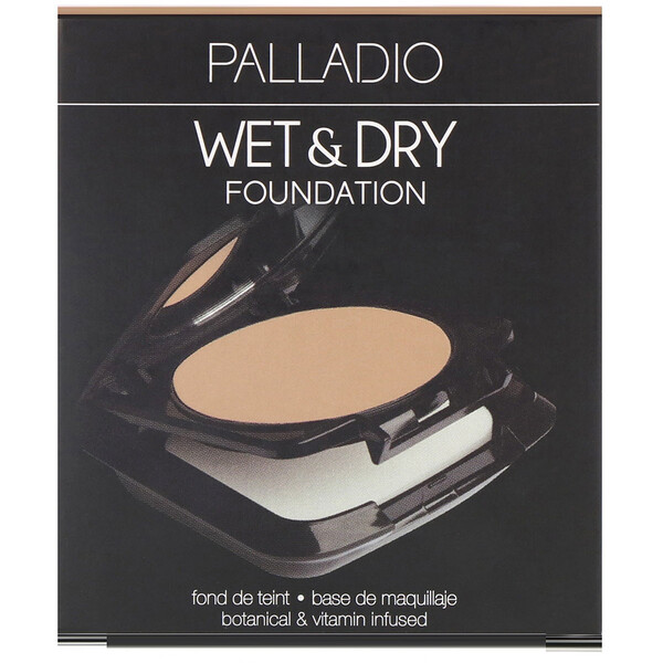 Palladio, Wet & Dry Foundation, Everlasting Tan, 0.28 oz (8 g)