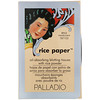 Palladio, Салфетки с рисовой пудрой Rice Paper, светлый оттенок, 40шт.
