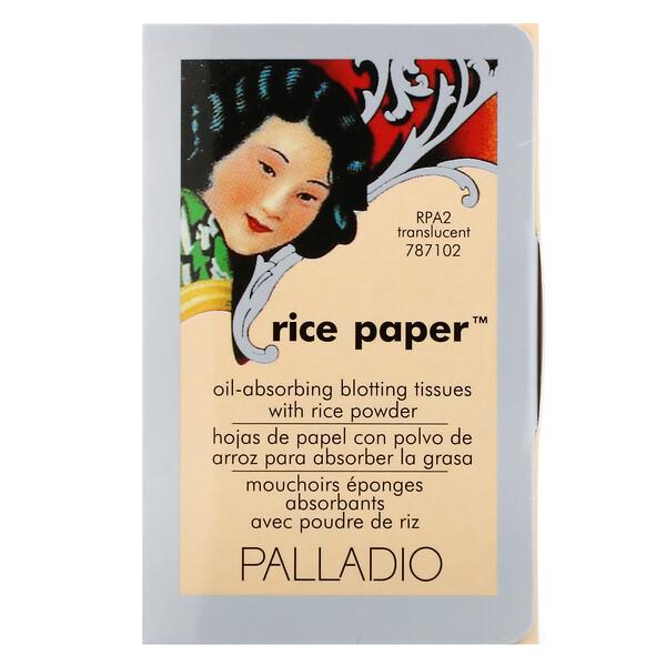 Palladio, Papel de arroz, translúcido, 40 unidades
