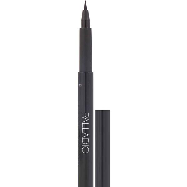 Palladio, फ़ेल्ट-टिप आईलाइनर पेन, गहरा काला, 0.037 फ़्लूड आउंस (1.1 मिली) (Discontinued Item)