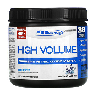 PEScience, High Volume, Supreme Nitric Oxide Matrix, Blue Frost, 8.9 oz (252 g)
