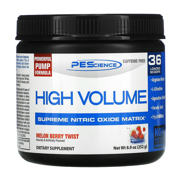 High Volume, Supreme Nitric Oxide Matrix, Melon Berry Twist, 8.9 oz (252 g)