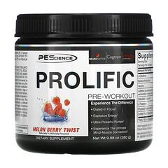 PEScience, Prolific,鍛鍊前,蜜瓜莓果味,9.88 盎司(280 克)