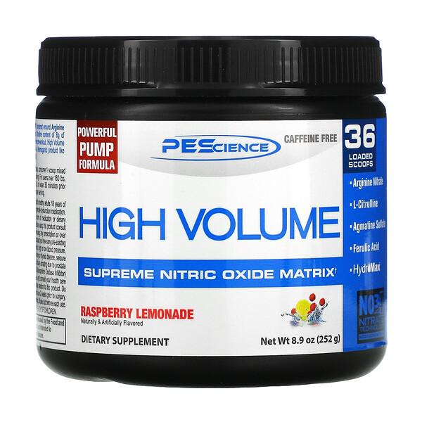 High Volume,特高一氧化氮基質,無咖啡萃取,樹莓檸檬水,8.9 盎司(252 克)