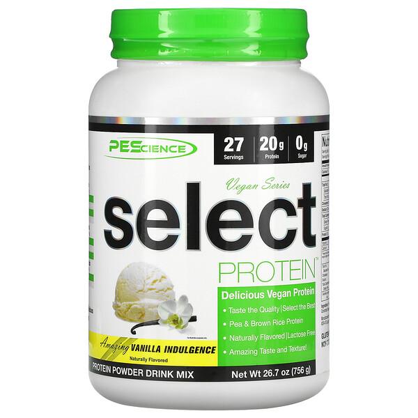 Vegan Series, Select Protein, Vanilla Indulgence, 26.7 oz (756 g)