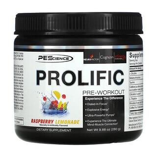 PEScience, Prolific, Pre-Workout, Raspberry Lemonade, 9.88 oz (280 g)