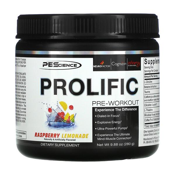 Prolific, Pre-Workout, Raspberry Lemonade, 9.88 oz (280 g)