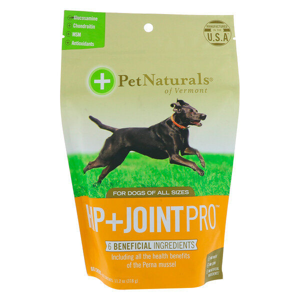 Pet Naturals of Vermont, Hip + Joint Max, For Dogs, 60 Chews, 11.2 oz (318 g)