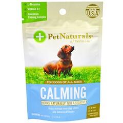 Pet Naturals of Vermont, Calmante, para Cães, 30 Mastigáveis, 45 g