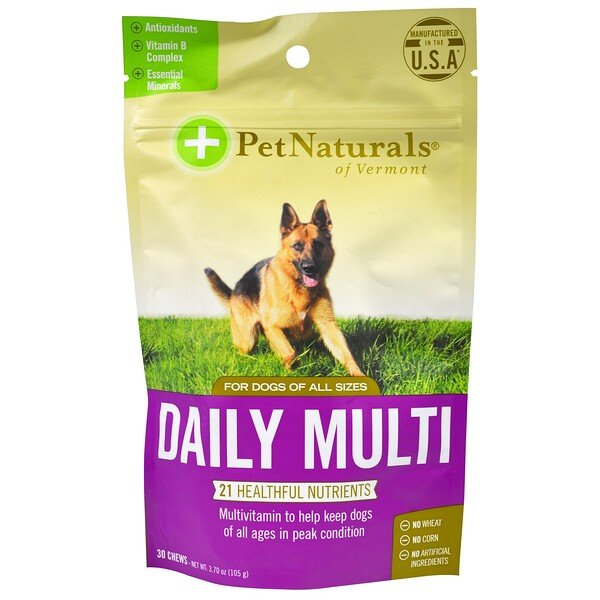 Pet Naturals of Vermont, Tägliches Multivitamin, für Hunde, 30 Kautabletten, 3.70 oz (105 g)